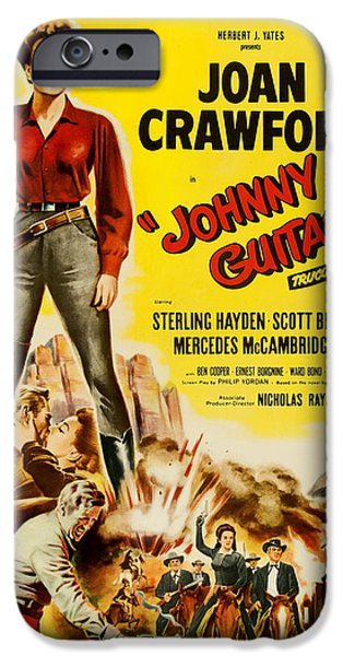 1950s Movies iPhone Cases - Johnny Guitar - 1954 iPhone Case by Nomad Art And  Design