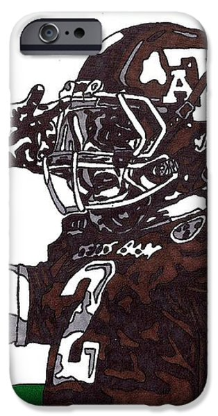 Johnny Manziel 2 iPhone Case by Jeremiah Colley