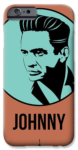 Icon Mixed Media iPhone Cases - Johnny Poster 1 iPhone Case by Naxart Studio