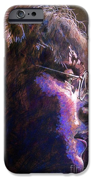 John Lennon Paintings iPhone Cases - Johnny We Miss You iPhone Case by David Lloyd Glover