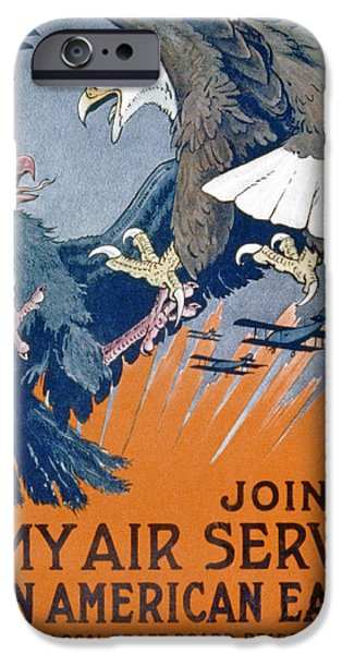 United iPhone Cases - Join The Army Air Service, Be An iPhone Case by Charles Livingston Bull