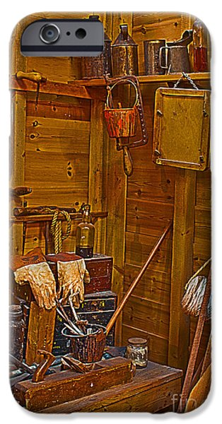 Work Tool iPhone Cases - Joiners Tools HDR iPhone Case by Terri  Waters