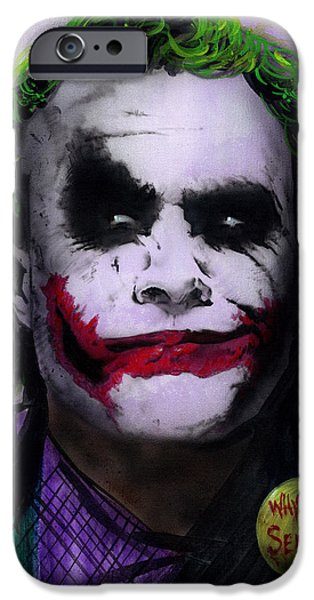 Ledger; Book iPhone Cases - Joker 2 iPhone Case by Luis  Navarro