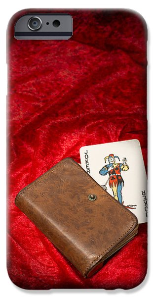 Playing Cards iPhone Cases - Joker iPhone Case by Amanda And Christopher Elwell