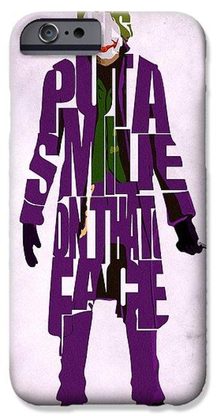 Joker - Heath Ledger iPhone Case by Ayse Deniz