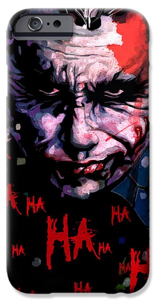 Ledger; Book iPhone Cases - Joker iPhone Case by Jeremy Scott