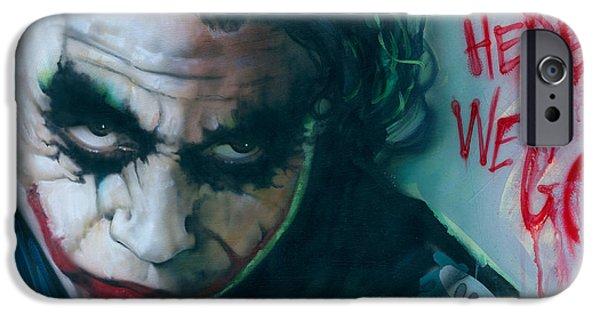 Dc Universe iPhone Cases - Joker iPhone Case by Luis  Navarro