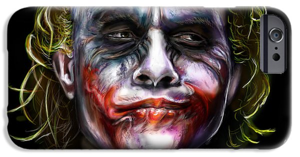 Comics iPhone Cases - Joker iPhone Case by Vinny John Usuriello