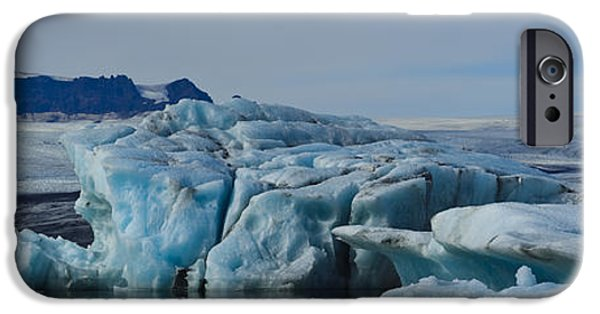 Drama iPhone Cases - Jokulsarlon Ice Field iPhone Case by Elena Bouvier