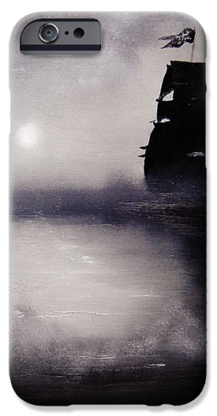 Best Sellers -  - Pirate Ship iPhone Cases - Jolly Roger iPhone Case by Eugene Budden