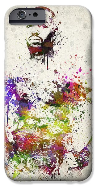 Ultimate Fighting Championship Digital Art iPhone Cases - Jon Jones iPhone Case by Aged Pixel