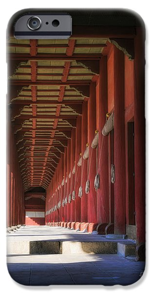 Buddhist iPhone Cases - Jongmyo Light and Shadow iPhone Case by Joan Carroll