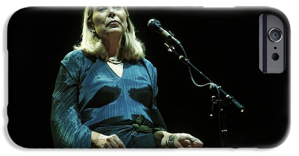 Painter Photo Photographs iPhone Cases - Joni Mitchell iPhone Case by Front Row  Photographs