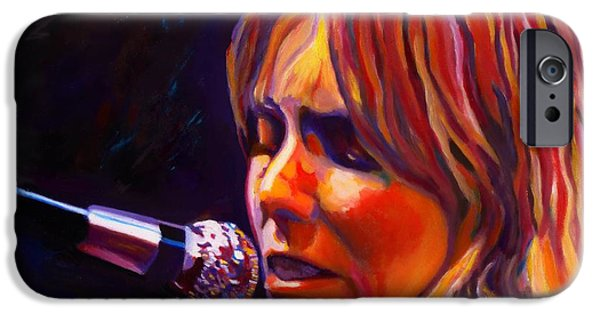 Celebrities Art Paintings iPhone Cases - Joni Mitchell..legend iPhone Case by Vel Verrept
