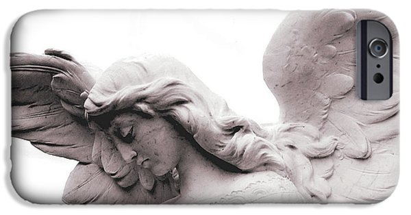 Cemetary iPhone Cases - Jophiel iPhone Case by Cindy Hogan