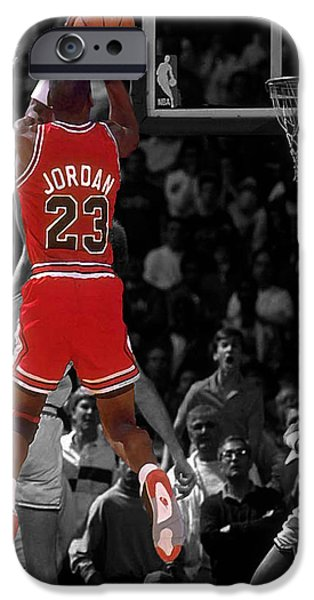 Mj iPhone Cases - Jordan Buzzer Beater iPhone Case by Brian Reaves
