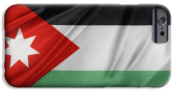 Jordan iPhone Cases - Jordan flag iPhone Case by Les Cunliffe