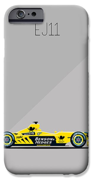Circuit iPhone Cases - Jordan Honda EJ11 F1 iPhone Case by Florian Rodarte
