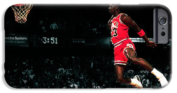 Dunk iPhone Cases - Jordan In Flight iPhone Case by Brian Reaves