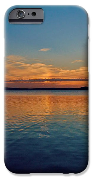 Jordan Lake Sunset 2 iPhone Case by Kelly Nowak