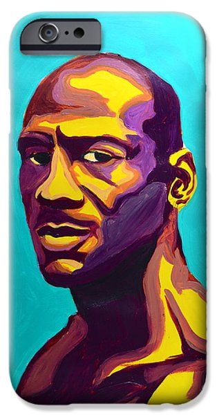Jordan iPhone Case by LLaura Burge