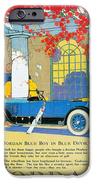 Recently Sold -  - Jordan iPhone Cases - Jordan Motor Car Company iPhone Case by Vintage Automobile Ads and Posters