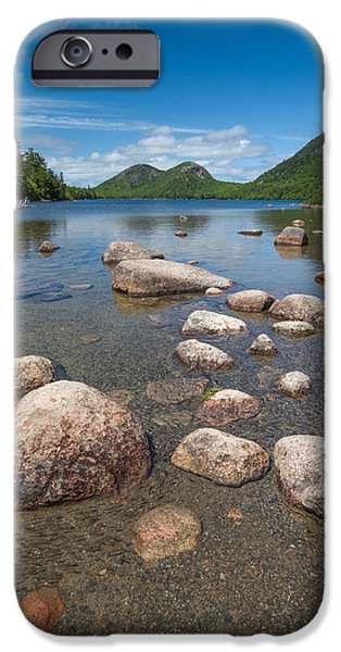 Nubble Lighthouse iPhone Cases - Jordan Pond 2  iPhone Case by Emmanuel Panagiotakis