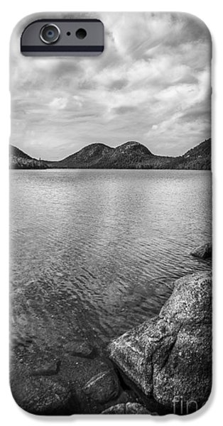 Jordan iPhone Cases - Jordan Pond Acadia National Park Maine. iPhone Case by Diane Diederich