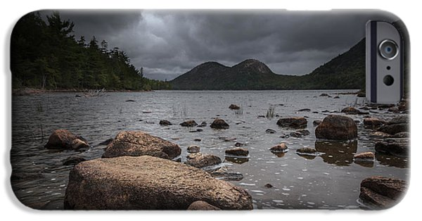 Maine iPhone Cases - Jordan pond iPhone Case by Chris Fletcher