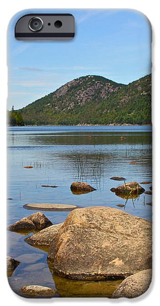 Jordan Pond iPhone Case by Jon Reddin Photography