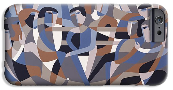 Quaker Paintings iPhone Cases - Jordan Quaker Meeting 2 iPhone Case by Ron Waddams