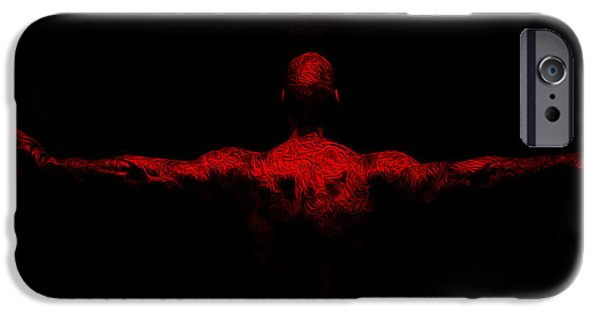 Jordan Mixed Media iPhone Cases - Jordan Wings iPhone Case by Brian Reaves