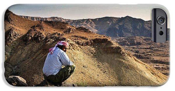 Jordan iPhone Cases - Jordanian beduin iPhone Case by Dan Yeger