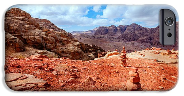 Jordan iPhone Cases - Jordanian desert iPhone Case by Alexey Stiop