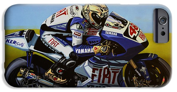 Circuit iPhone Cases - Jorge Lorenzo iPhone Case by Paul  Meijering