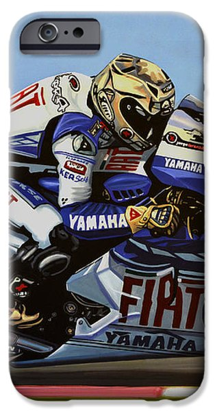 Jorge Lorenzo iPhone Case by Paul  Meijering