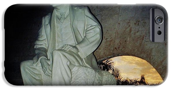 Cemetary iPhone Cases - Jose Marti Tomb iPhone Case by John Malone