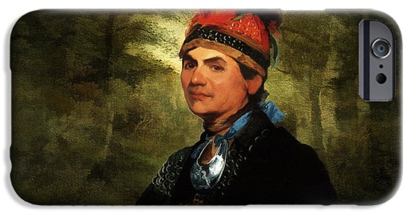 Nation iPhone Cases - Joseph Brant after Stuart iPhone Case by Lianne Schneider