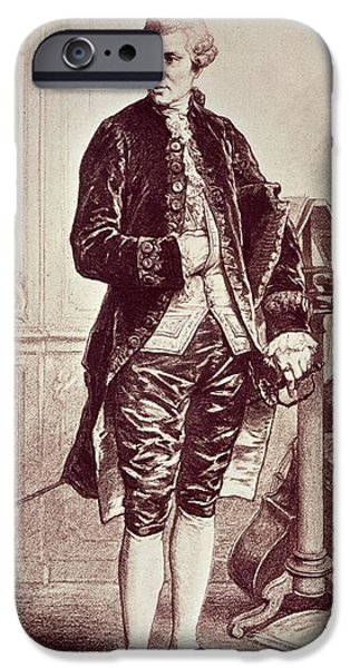 Sheets iPhone Cases - Joseph Hadyn 1732-1809 1858 Engraving iPhone Case by Edouard Jean Conrad Hamman