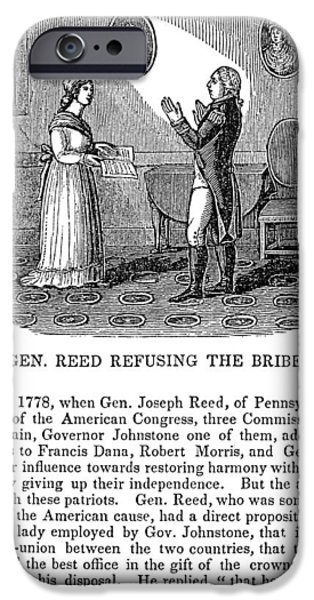 American Revolution iPhone Cases - Joseph Reed (1741-1785) iPhone Case by Granger