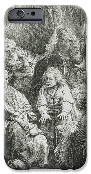 Rembrandt Drawings iPhone Cases - Joseph Telling His Dreams iPhone Case by Rembrandt Van Rijn