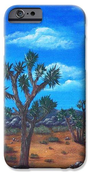 Wall iPhone Cases - Joshua Tree Desert iPhone Case by Anastasiya Malakhova