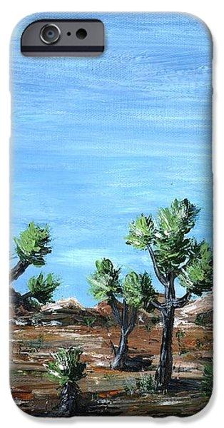 Joshua Trees iPhone Case by Anastasiya Malakhova