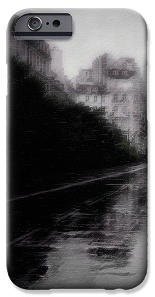 jour de pluie iPhone Case by David Fox