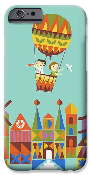 Journey around the world iPhone Case by Budi Kwan