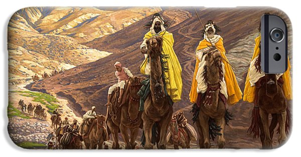 Three iPhone Cases - Journey of the Magi iPhone Case by Tissot