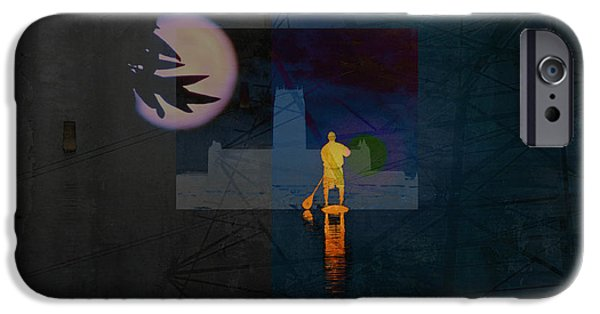 Inner Self Digital Art iPhone Cases - Journey Through Muddy Waters iPhone Case by Robert Ball