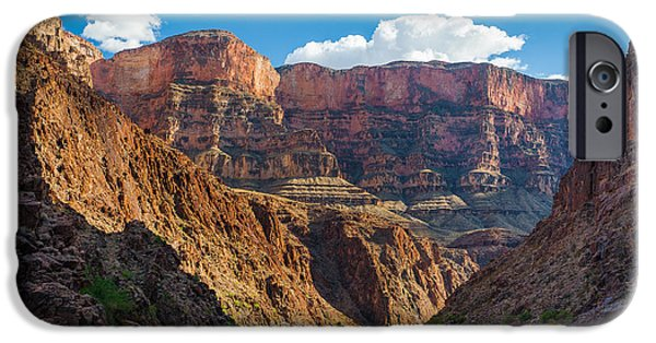 Drama iPhone Cases - Journey through the Grand Canyon iPhone Case by Inge Johnsson
