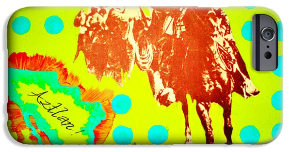Iraq Paintings iPhone Cases - Journey to Aztlan iPhone Case by Michelle Dallocchio
