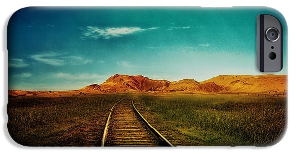 Concept Mixed Media iPhone Cases - Journey to Nowhere  iPhone Case by Mountain Dreams